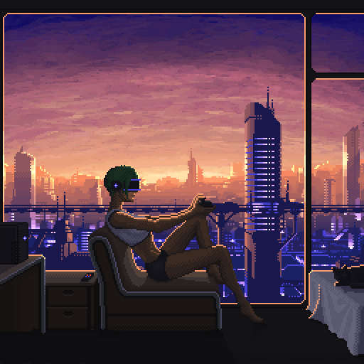 Illustration   dystopian gamer 01