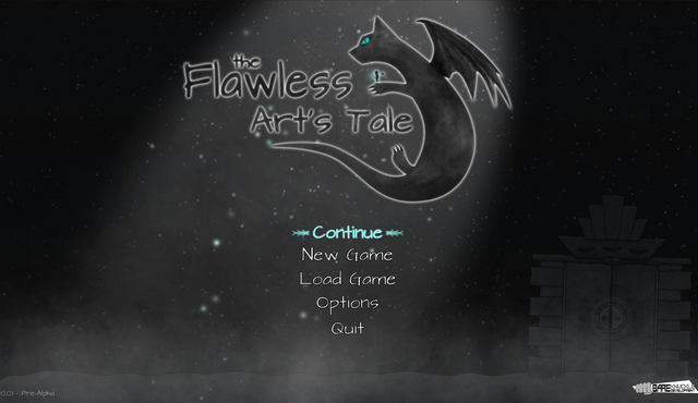 The flawless art's tale start menu 2k